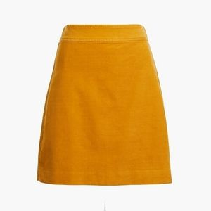 Mini Skirt in Corduroy - Rusted Amber